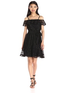Jessica Simpson Women's Lace Off the Shoulder Dress