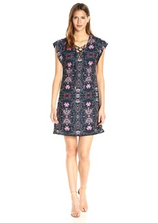 Jessica Simpson Women's ed Lace Up Dress