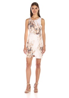 Jessica Simpson Women's Leopard Scuba Dress