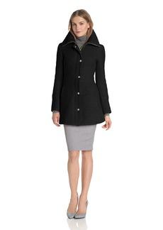 Jessica Simpson Women's Long Braided Wool Coat