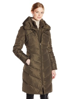 Jessica Simpson Women's Long Chevron Down Coat  X-Large