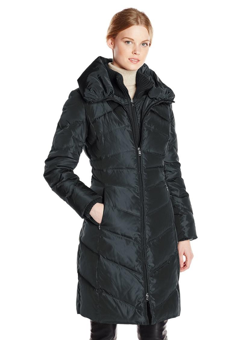 Jessica Simpson Women's Long Chevron Down Coat