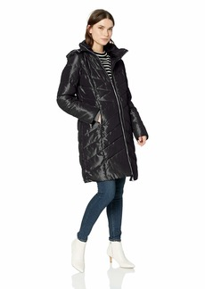 Jessica Simpson Women's Long Fashion Puffer Jacket  L