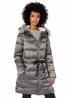 Jessica Simpson Women's Long Fashion Puffer Jacket  M