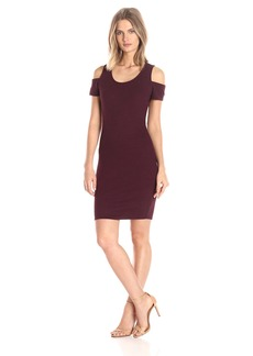 Jessica Simpson Women's Mara Cold Shoulder Dress Wine-Tasting