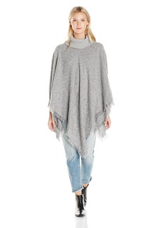 Jessica Simpson Women's Marled Boucle Knit Poncho