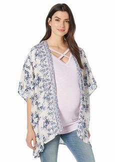 Jessica Simpson Women's Maternity 3/4 Sleeve High/Low Hem Bed Jacket