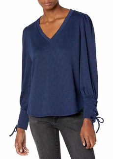 Jessica Simpson Women's Mercer Lace Up Sleeve Top