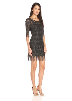 Jessica Simpson Women's Metallic Frindge Dress