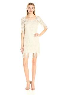 Jessica Simpson Women's Metallic Frindge Dress
