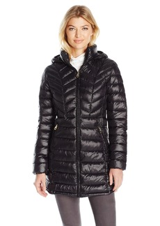 Jessica Simpson Women's Mid Length Packable Puffer Coat  S