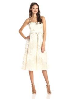 Jessica Simpson Women's Midi Lace Social Fit N Flare Dress