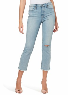Jessica Simpson Women's Misses Adored High Rise Kick Flare Jean