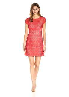 Jessica Simpson Women's Mixed Lace Shift Dress
