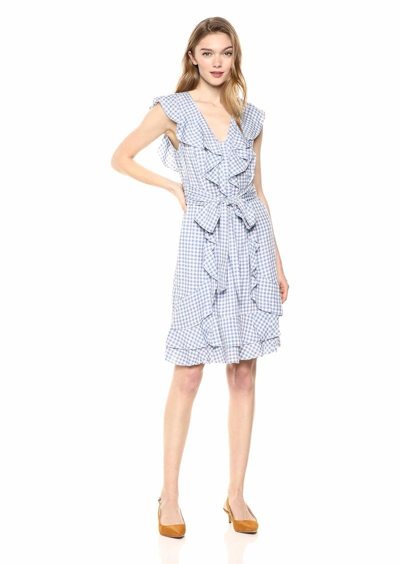 Jessica Simpson Women's Nimah Ruffle Tie A-Line Dress  XLarge