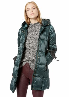 Jessica Simpson Women's Nylon Fashion Puffer Jacket  L