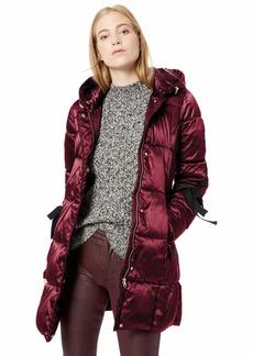 Jessica Simpson Women's Nylon Fashion Puffer Jacket  L