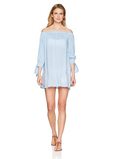 Jessica Simpson Women's Off The Shoulder Swim Cover-Up  S