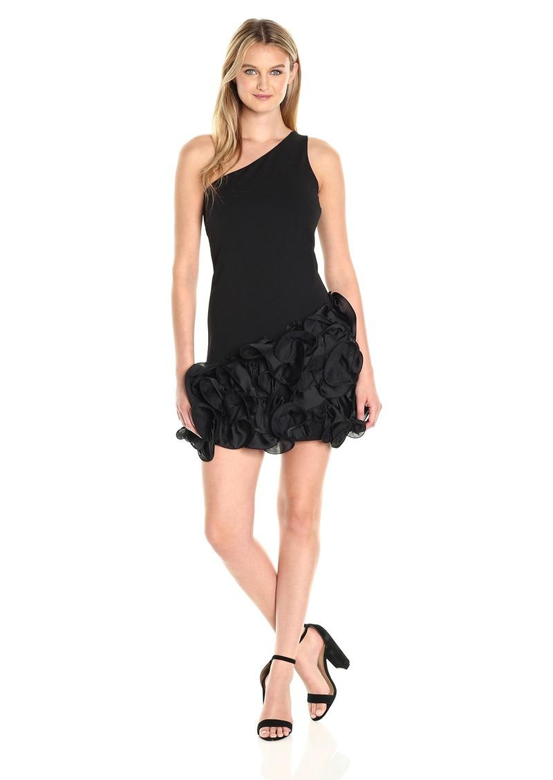 Jessica Simpson Women's One Shoulder Ruffle Bottom Dress