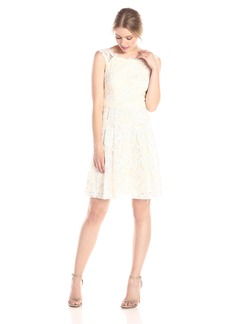 Jessica Simpson Women's Open Back Lace Social Dress