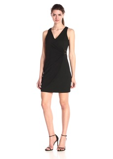 Jessica Simpson Women's Ottoman and Knit Combo Wrap Dress