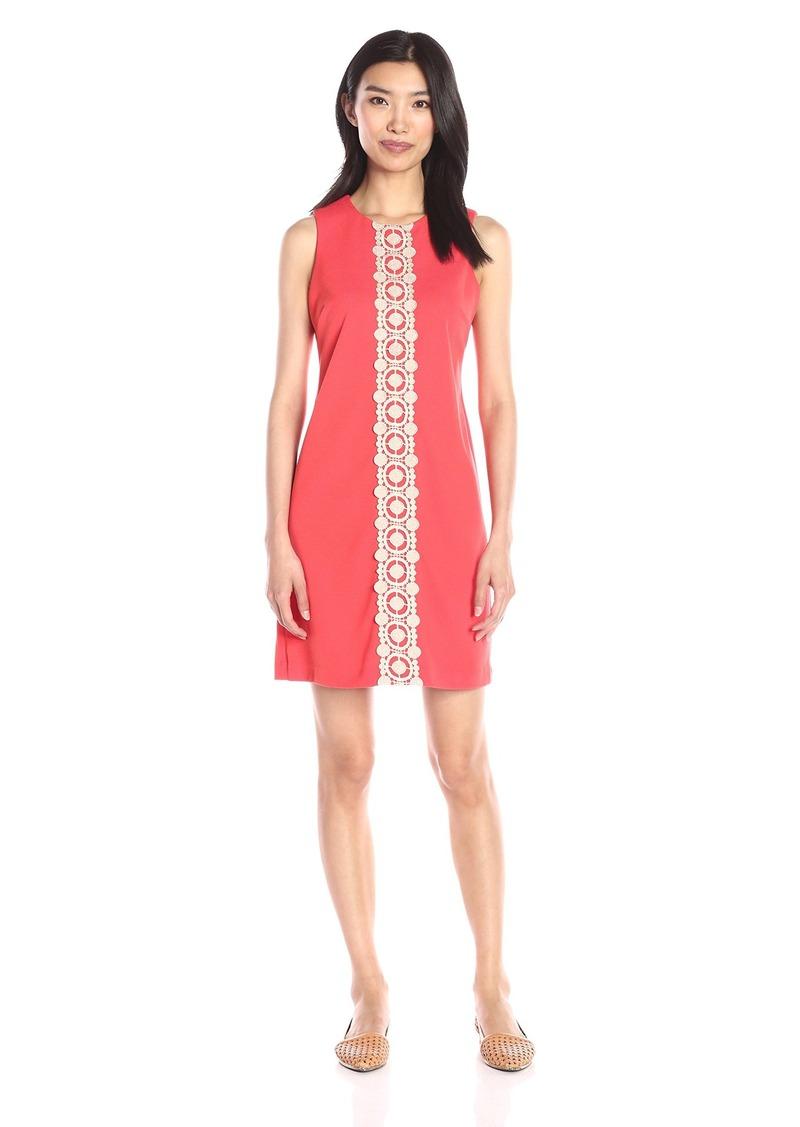 Jessica Simpson Women's Ottoman Shift Dress with Lace Detail