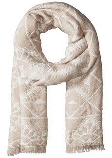 Jessica Simpson Women's Patterned Oblong Scarf with Raw Edge cream/natural