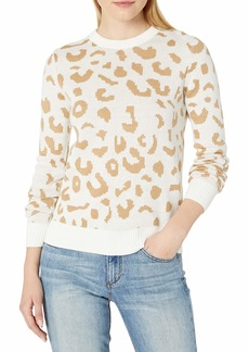Jessica Simpson Women's Perry Long Sleeve Jacquard Pullover Sweater  XLarge