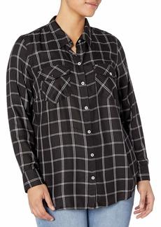 Jessica Simpson Women's Plus Size Petunia High Low Button Up Shirt