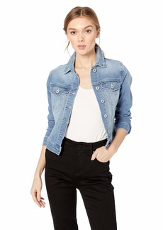 Jessica Simpson Women's Pixie Classic Feminine Crop Fit Denim Jacket