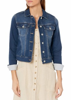 Jessica Simpson Women's Pixie Classic Feminine Fit Crop Jean Jacket