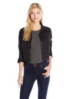 "Jessica Simpson Women's ""Pixie Coated Suede"" Jacket  M"