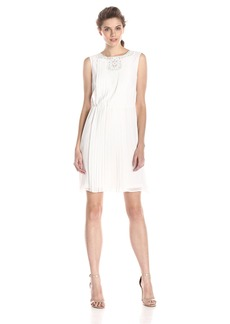 Jessica Simpson Women's Pleated Chiffon Dress  8