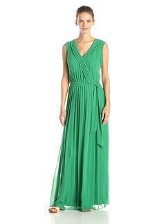 Jessica Simpson Women's Pleated Chiffon Maxi Dress