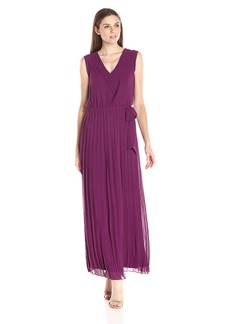 Jessica Simpson Women's Pleated Chiffon Maxi Dress