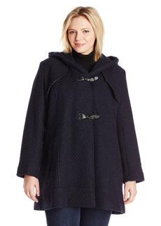 Jessica Simpson Women's Plus-Size Braided Wool Toggle Coat