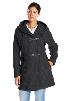 Jessica Simpson Women's Plus-Size Braided Wool Toggle Coat Plus  1X