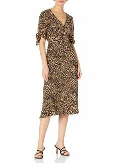 Jessica Simpson Women's Cecilia Cute Tie Short Sleeve Long Dress