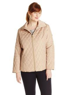 Jessica Simpson Women's Plus Size Diamond Quilted Jacket