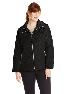 Jessica Simpson Women's Plus Size Diamond Quilted Jacket