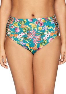 Jessica Simpson Women's Plus Size Eden Print Swim Separates (Top and Bottom Available) High Waist