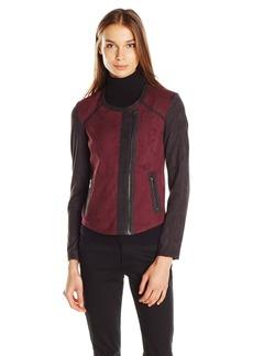 Jessica Simpson Women's Plus-Size Elora Jacket Wine-Tasting M