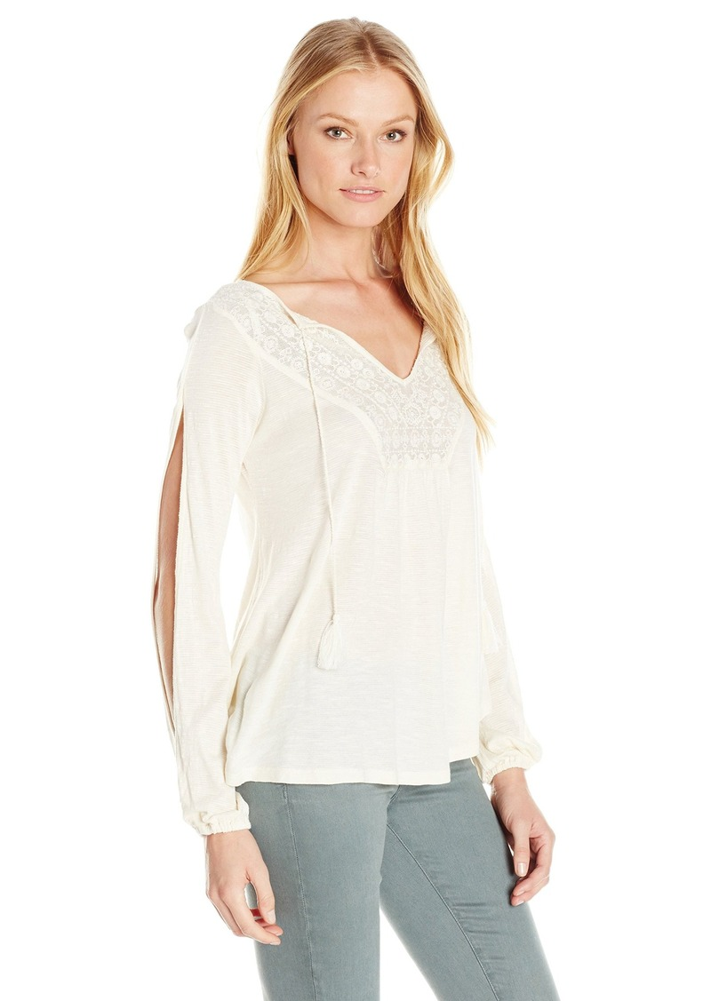 Jessica Simpson Women's Plus-Size Frida Top Antique/White XS
