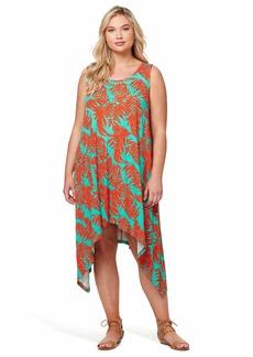 Jessica Simpson Women's Plus Size Jade Fit and Flare Midi Dress