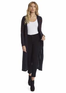 Jessica Simpson Women's Plus Size Jolie Pointelle Maxi Cardigan Duster