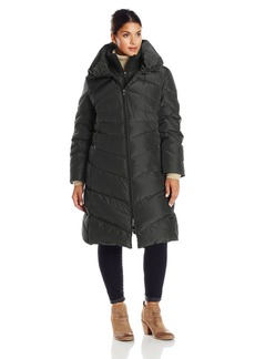Jessica Simpson Women's Plus-Size Long Chevron Down Coat
