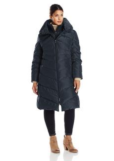 Jessica Simpson Women's Plus-Size Long Chevron Down Coat  1X