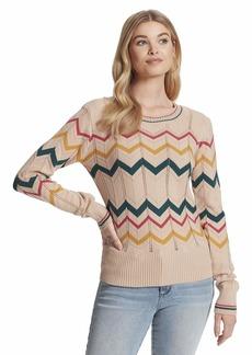 Jessica Simpson Women's Plus Size Marcelina Cute Crew Neck Sweater