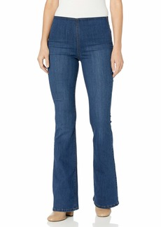 Jessica Simpson Women's Plus Size Mid Rise Pull On Flare Jean  W