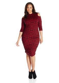 Jessica Simpson Women's Plus-Size Montanna Funnel Neck Dress  3X